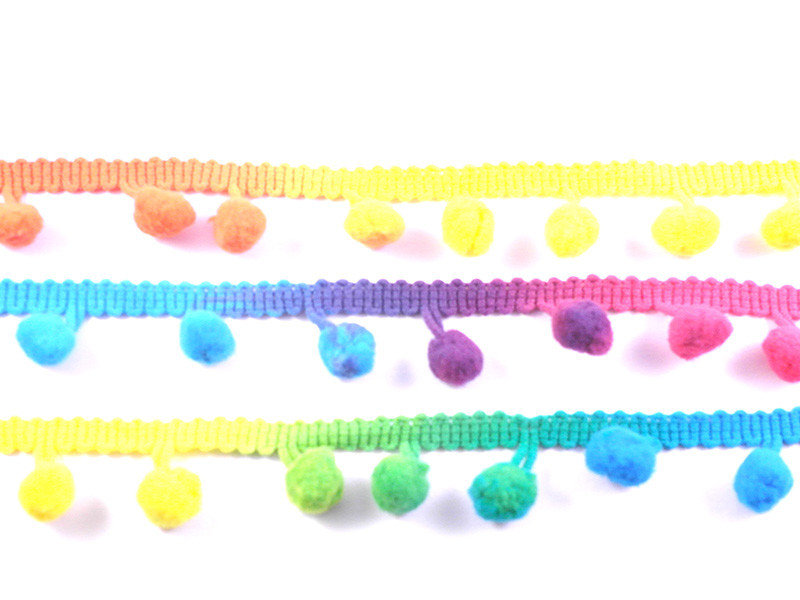 bolletjesband en minipomponband
