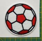 opstrijkbare applicatie: voetbal