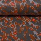 Dunne geplastificeerde katoen vlekken in terracotta, grijs en lichtgrijs