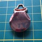 bretelclip, mooi glanzend rosé-goudkleurig ronde vorm voor koord