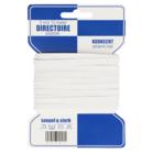 10 meter directoire elastiek 5 mm oftewel elastiek voor ondergoed, wit