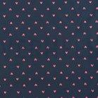 jassenstof roze hartjes op donkerblauw
