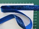 glitterband 15 mm, blauw