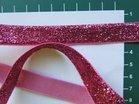 glitterband 15 mm, fuchsia