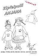 ANJANA, patroon van een trui met punten