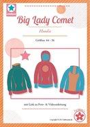 Big Lady COMET/ patroon van een hoody in de maten 44, 46, 48, 50, 52, 54, 56