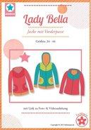Lady Bella, een patroon van een vest met voorpas in de maten 34 t/m 44