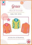 Grace, patroon van een blazer voor meisjes in de maten  74/80 -158/164