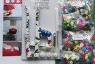 snaptang donkerrood/blauw plus kleurenpakket met 200 MATTE snaps (maat 20),ongesorteerd