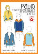 Pablo, raglanvest/-shirt met kraag of capuchon in de maten 86/164