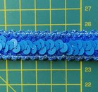 elastisch paillettenband, jeansblauw