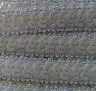 elastisch paillettenband, gebroken wit /ecru