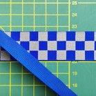 ribsband met reflecterende ruitjes / blauw