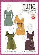 NURIA, patroon van Allround-jurk in de maten 34 t/m 48