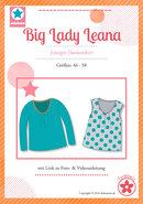 Big Lady Leana, shirt met plooitjes langs de halsrand