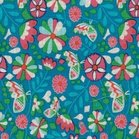coupon 140 cm : Butter Bloom poplin van Jolijou, turquoise