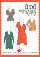 ALBA, jurk met wikkeloptiek in de maten 34 t/m 48