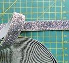 glitterelastiek zilver 1,6 cm breed