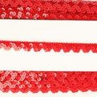 rood elastisch paillettenkantje
