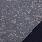 Pondero = reflecterende softshell: dino's zilver op jeansblauw