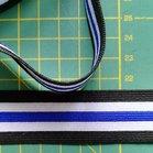sierelastiek voor over zijnaden 2,5 cm: blauw in het midden
