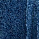 doubleface teddy-fleece jeanskleur