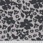 Bielefeld: dikkere wintertricot met bloemen zwart/grijs