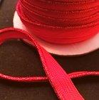 paspelband  lurex rood