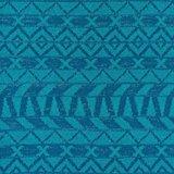 Ponte: gebreide stof met glitters in grafisch design: Petrol/smaragd/zilver_
