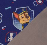 PAW PATROL **NANO SOFTSHELL**: badges van Chase op donkerblauw_