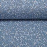 Susi, jacquard tricot licht-jeansblauw/wit gespikkeld_