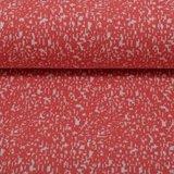 Susi, jacquard tricot koraal/wit gespikkeld_