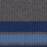 Bonnie:grijs gemeleerd met twee strepen blauw_