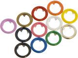 10 metalen open-ring-drukkers 11 mm zilverkleurig_
