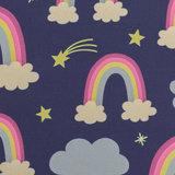 softshell: prinses fantasie! donkerblauw met regenbogen _
