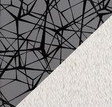 "Lou Nano softshell: reflecterende softshell met ""gebroken ruit"" print_"