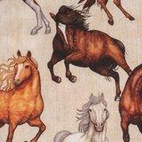 Kim: 100 % katoenen poplin met paarden _