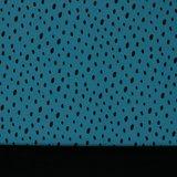 Softshell getekende stippen op jeansblauw, water- en winddicht! _