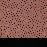 Softshell getekende stippen op roze/oudroze, water- en winddicht! _