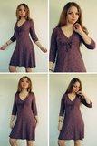 Camila, patroon van een V-hals-jurk voor het hele jaar _