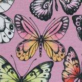 Theo: tricot roze met vlinders_
