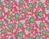 Flower Parade: bloemen op roze_