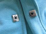 5 zilveren broekhaken met spijkerknoop plus gereedschap_