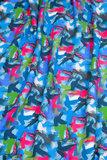 coupon 95 cm: Joyeux van Lila Lotta: wat dikkere tricot met kolibries blauw_