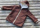 Klimperklein, Jacke, patroon van een jas voor zomer en winter in de maten 56/164_
