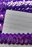 elastisch paillettenband, paars_