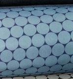 Sheldon: softshell grote rondjes jeanskleur/donkerblauw, winddicht_