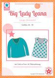 Big Lady Leana, shirt met plooitjes langs de halsrand _