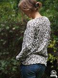 Lady Leana, shirt met plooitjes langs de halsrand _