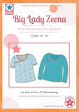 Big Lady Zeena, patroon van een shirt van MiaLuna (introductiekorting)_
